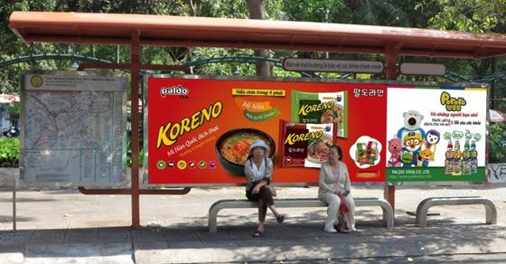 Báo giá quảng cáo tại nhà chờ xe Bus Hà Nội