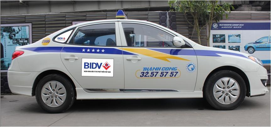 Quảng cáo taxi toàn quốc với BRANDCOM