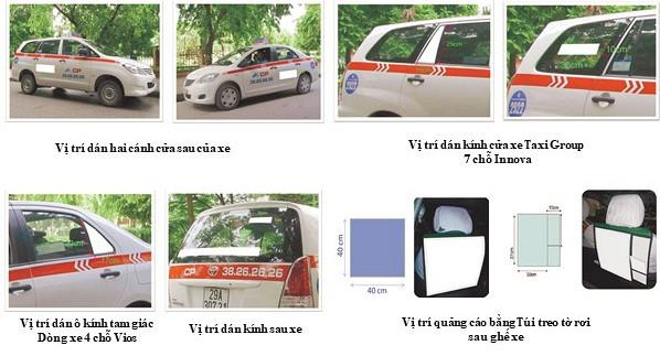 Dịch vụ quảng cáo trên Taxi Group